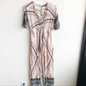 Derek Heart | Aztec Print Maxi Romper Dress/Shorts
